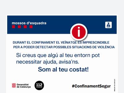 Atenció i suport a les dones víctimes de violència #ConfinamentSegur