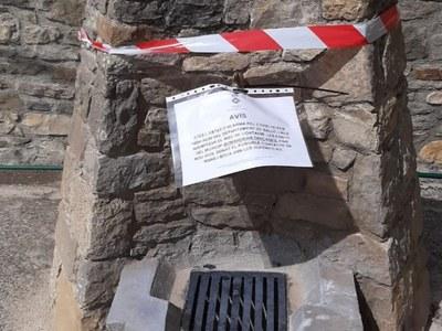L'Ajuntament de Sant Esteve de la Sarga tanca les fonts del municipi per minimitzar riscos de contagi