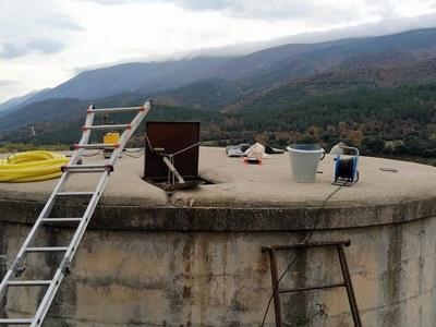 Neteja, desinfecció i instal.lació de clorador a dipòsits del municipi