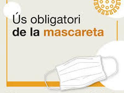Ús obligatori de mascareta en espais públics a partir del 9 de juliol